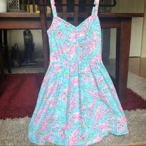 LILLY PULITZER Ardleigh Lobstah Roll Print Dress
